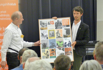 Julian Kosh (Oxfam) mit Gründer Gerhard Dorffner