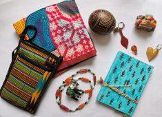 Taschen, Schmuck, Figuren, Notizbücher, aus allen Teilen der Welt